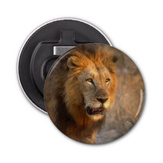 King of Jungle Button Bottle Opener