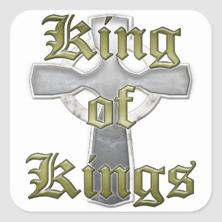 King of Kings Square Stickers