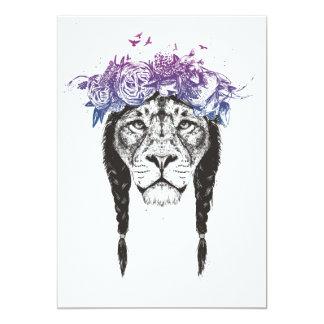 King of lions 13 cm x 18 cm invitation card