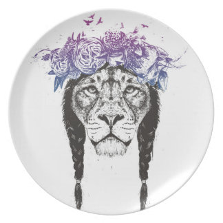 King of lions party plate