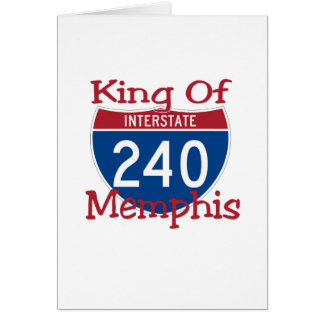 King Of Memphis Greeting Card