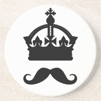 King of Mustaches coaster