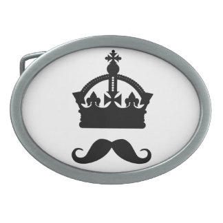 King of Mustaches custom belt buckle