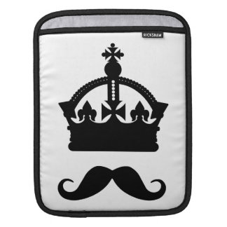 King of Mustaches custom color iPad sleeve