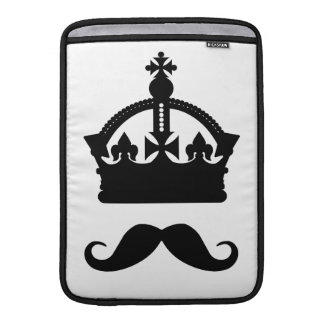 King of Mustaches custom color MacBook sleeve