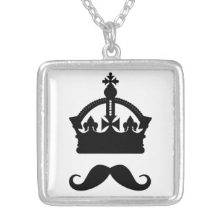 King of Mustaches custom color necklace