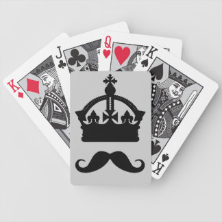 King of Mustaches custom color playing cards