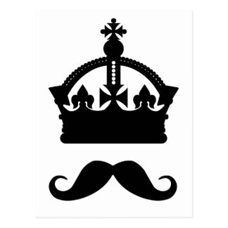 King of Mustaches custom postcard