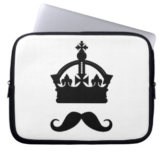 King of Mustaches laptop sleeve