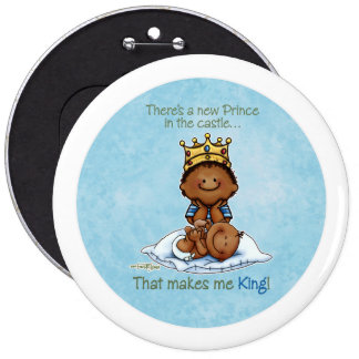 King of Prince African American Big Brother button