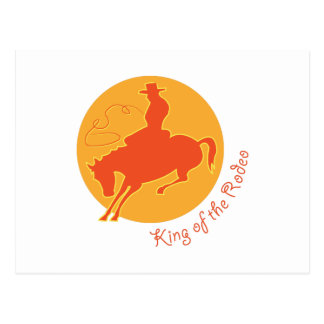King Of Rodeo Postcard