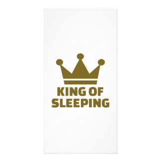 King of sleeping picture card