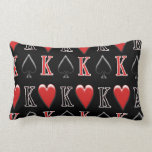 King of Spades, King of Hearts Pillow Throw Pillow