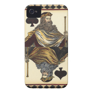 King of Spades Playing Card by Vision Studio Case-Mate iPhone 4 Case