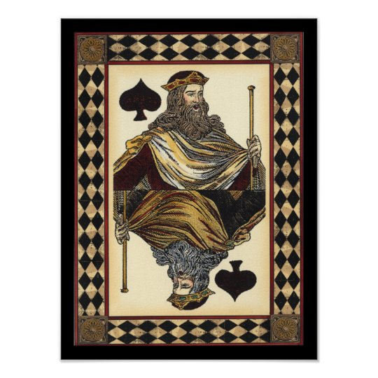 King of Spades Playing Card by Vision Studio