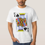 King of Spades Playing Card Tee Shirts