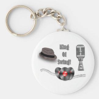 King Of Swing Basic Round Button Key Ring