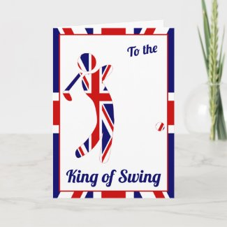 King of Swing | Union Jack Golfer | Father's Day Card