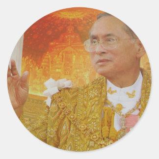 King of thailand classic round sticker