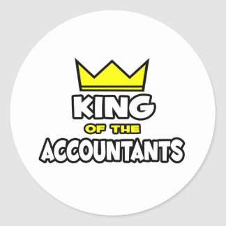 King of the Accountants Round Sticker