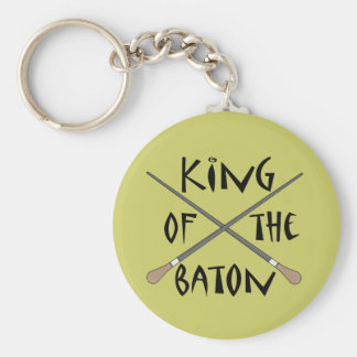 King of the Baton Conductor Gift Basic Round Button Key Ring