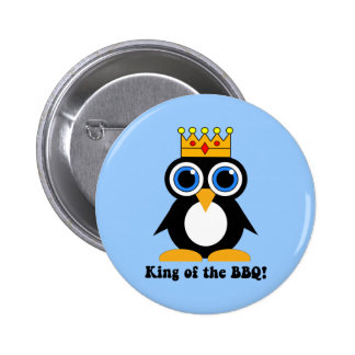 king of the bbq pinback button