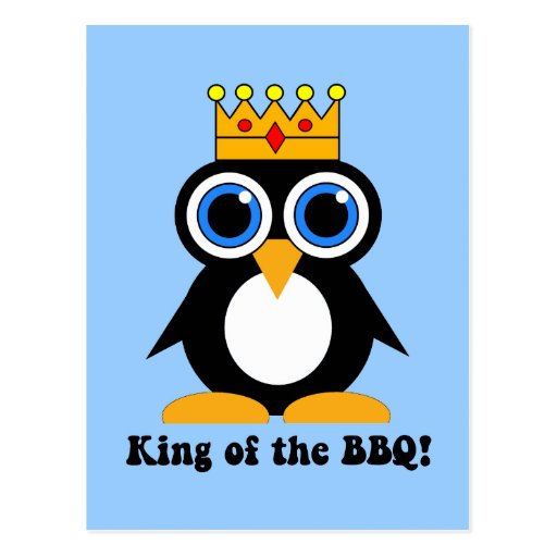 king of the bbq post cards