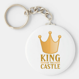 King of the castle basic round button key ring