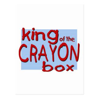 King of the Crayon Box Postcard