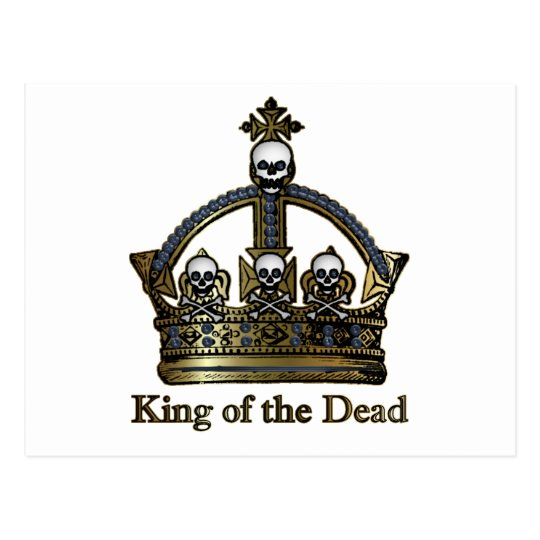 King of the Dead Skull Crown Postcard