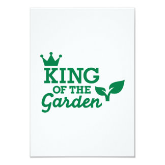 King of the Garden 9 Cm X 13 Cm Invitation Card