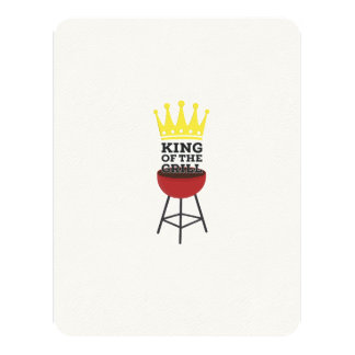King of the grill 11 cm x 14 cm invitation card