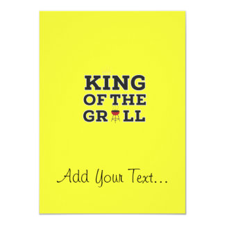 King of the grill 11 cm x 16 cm invitation card