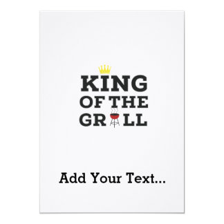 King of the grill 13 cm x 18 cm invitation card