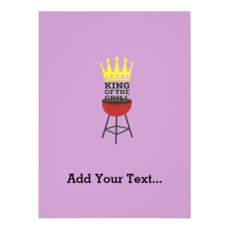 King of the grill 14 cm x 19 cm invitation card