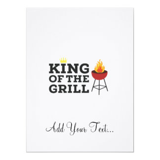 King of the grill 17 cm x 22 cm invitation card