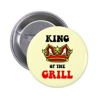 King of the Grill 6 Cm Round Badge