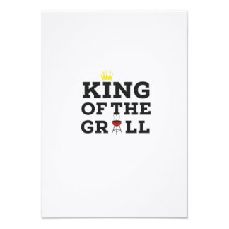 King of the grill 9 cm x 13 cm invitation card