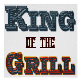 King of the Grill BBQ Saying Print