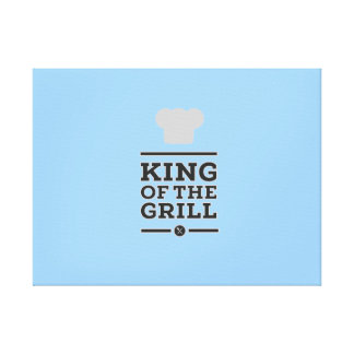 King of the grill canvas prints