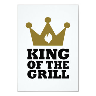 King of the grill crown 9 cm x 13 cm invitation card