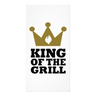 King of the grill crown customized photo card