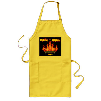King of the Grill Flaming Apron For DAD