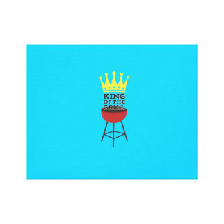 King of the grill gallery wrapped canvas