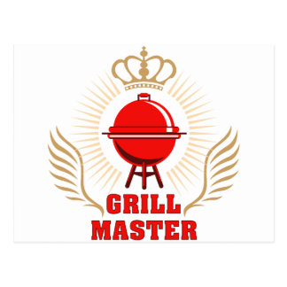 king OF the grill grill master Postcard