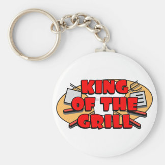 King Of The Grill Key Ring