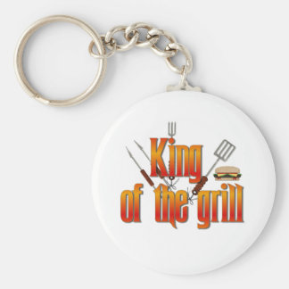 King of the Grill Basic Round Button Key Ring