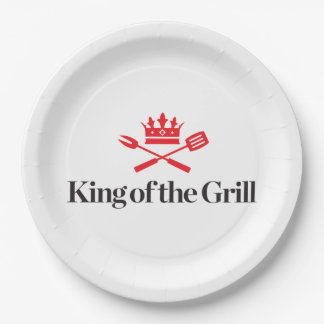 King of the Grill Paper Plate