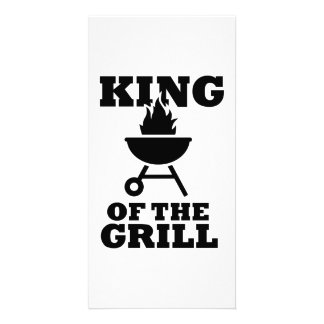 King of the grill personalized photo card