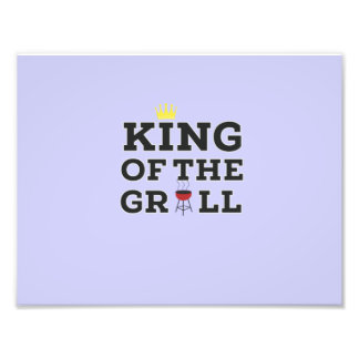 King of the grill photo print